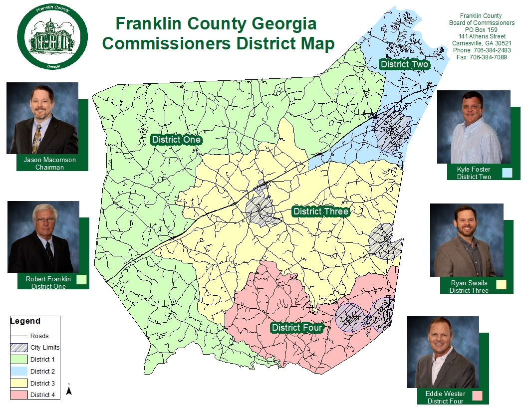 Franklin County Georgia Commissioner District Map