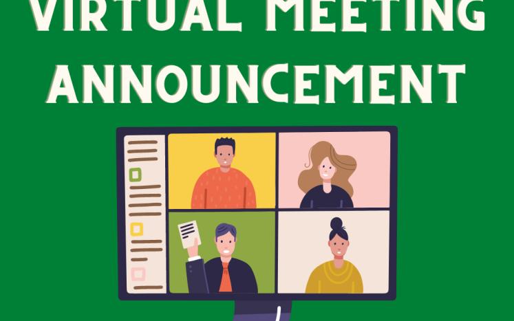 virtual meeting announcement